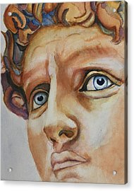 Michelangelo's David In Color Acrylic Print