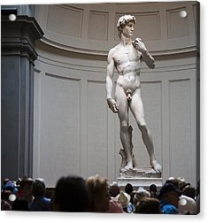 Acrylic Print featuring the photograph Michelangelo's David by Nathan Rupert