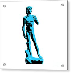 Michelangelos David - Stencil Style Acrylic Print by Pixel Chimp