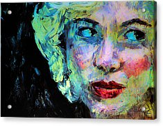 Acrylic Print featuring the digital art Michelle As Marilyn by Jim Vance