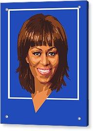 Michelle Acrylic Print by Douglas Simonson