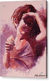 Acrylic Print featuring the painting Michelle by John  Svenson