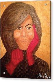 Michelle Obama Acrylic Print by Ginnie McKnight