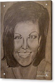 Michelle Obama Acrylic Print by Irving Starr
