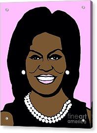 Michelle Obama Acrylic Print by Jost Houk