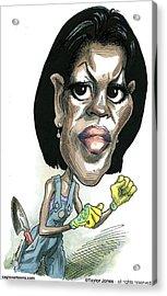 Michelle Obama Acrylic Print by Taylor Jones