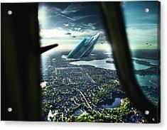 Michigan 2050 Acrylic Print by Nicholas  Grunas