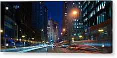 Michigan Avenue Chicago Acrylic Print by Steve Gadomski