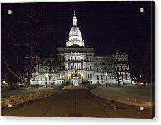 Michigan Capital Acrylic Print by Gary Marx