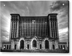 Michigan Central Station Bw Acrylic Print