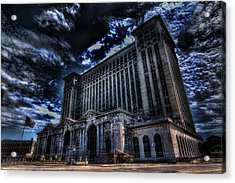 Michigan Central Station Hdr Acrylic Print