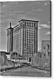 Michigan Central Station Acrylic Print by Nicholas  Grunas
