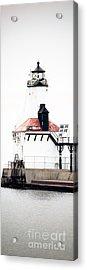 Michigan City Lighthouse Vertical Panorama Acrylic Print by Paul Velgos