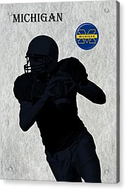 Michigan Football  Acrylic Print by David Dehner