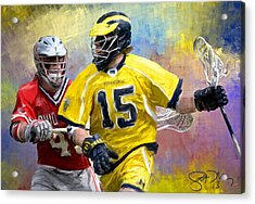 College Lacrosse 4 Acrylic Print by Scott Melby