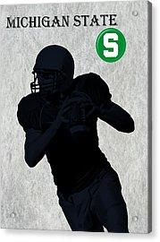 Michigan State Football Acrylic Print by David Dehner