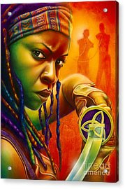Michonne Acrylic Print by Scott Spillman