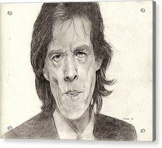 Mick Jagger 2 Acrylic Print by Glenn Daniels