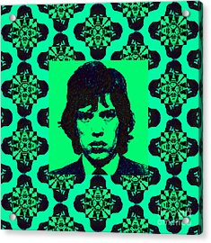Mick Jagger Abstract Window P128 Acrylic Print by Wingsdomain Art and Photography