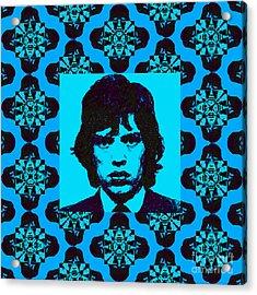 Mick Jagger Abstract Window P168 Acrylic Print