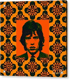 Mick Jagger Abstract Window Acrylic Print by Wingsdomain Art and Photography