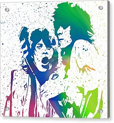 Mick Jagger And Keith Richards Acrylic Print by Dan Sproul