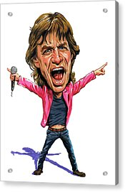 Mick Jagger Acrylic Print by Art