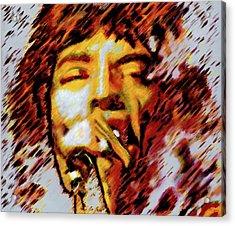 Mick Jagger Acrylic Print by Barry Novis