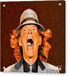 Mick Jagger Acrylic Print by Elizabeth Coats