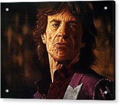 Mick Jagger Acrylic Print by Guy McIntosh