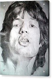 Mick Jagger - Large Acrylic Print by Robert Lance