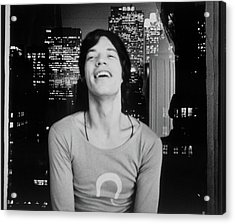 Mick Jagger Laughing Acrylic Print by Cecil Beaton