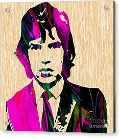Mick Jagger The Rolling Stones Acrylic Print