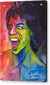 Mick Jagger Acrylic Print by Tim Patch