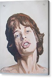 Mick Jagger Acrylic Print by Tim Turner