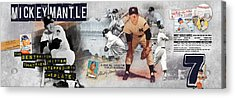 Mickey Mantle Panoramic Acrylic Print by Retro Images Archive