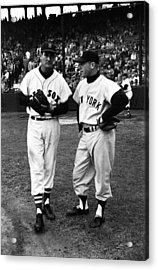 Mickey Mantle With Ted Williams Acrylic Print by Retro Images Archive