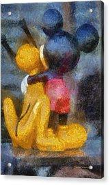 Mickey Mouse Photo Art Acrylic Print