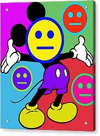 Mickey Smiles Acrylic Print by Tony Rubino