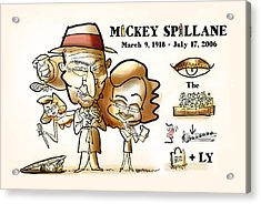 Mickey Spillane Acrylic Print