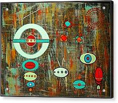 Micro Cosmic - Mother Ship Acrylic Print by Debra Jacobson