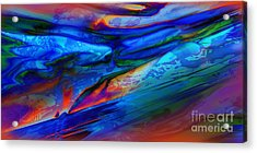 Micro Intensity Of Melancholy Flicker Acrylic Print by Kyle Wood