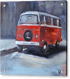 Microbus Acrylic Print by Lindsay Frost