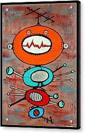 Microcosmic Apodment Acrylic Print by Debra Jacobson
