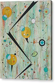 Microcosmic Outerspace Shindig Acrylic Print by Debra Jacobson