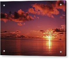 Micronesia, Palau, Koror, View Of Sea Acrylic Print