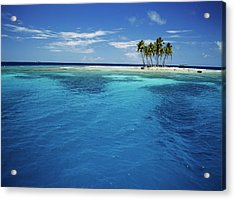 Micronesia, Tonowas, View Of Idyllic Acrylic Print