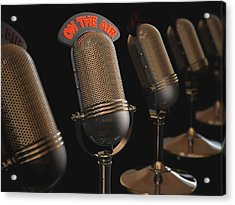Microphones Acrylic Print by Ktsdesign/science Photo Library