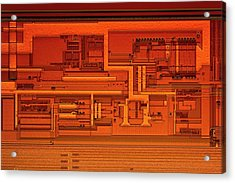 Microprocessor Clock Driver Acrylic Print by Antonio Romero