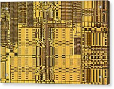 Microprocessor Instruction Decode Unit Acrylic Print by Antonio Romero